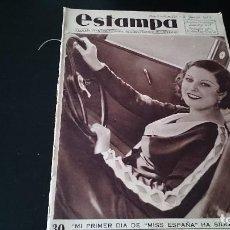 Coleccionismo de Revistas y Periódicos: REVISTA GRÁFICA ESTAMPA 2 JUNIO 1934 AÑO 7 NUM 334 - MISS ESPAÑA - REPÚBLICA . Lote 125155099