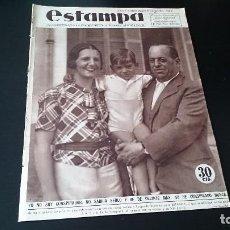 Coleccionismo de Revistas y Periódicos - REVISTA GRÁFICA ESTAMPA 11 AGOSTO 1934 AÑO 7 NUM 344 - SANJURJO NO SOY CONSPIRADOR - REPÚBLICA - 125155487