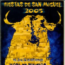 Coleccionismo de Revistas y Periódicos: REVISTA MORA DE RUBIELOS FIESTAS DE SAN MIGUEL 2005. Lote 125205723