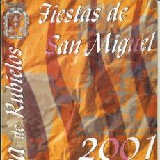 Coleccionismo de Revistas y Periódicos: REVISTA MORA DE RUBIELOS FIESTAS DE SAN MIGUEL 2001. Lote 125205979