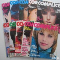 Coleccionismo de Revistas y Periódicos: LOTE 10 PRIMERAS REVISTAS COMPLICE. Nº 1 - 2 - 3 - 4 - 5 - 6 - 7 - 8 - 9 - 10 1985-1986 NUEVAS. Lote 125267011