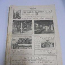 Coleccionismo de Revistas y Periódicos: REVISTA MUNDO ILUSTRADO. CADIZ Y PROVINCIA. Nº 84. JULIO 1941. REVISTA TRIMESTRAL. VER FOTOS. Lote 125283123