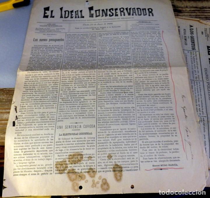 UBEDA, JAEN, 1899, PERIODICO EL IDEAL CONSERVADOR Nº83. 23 DE JUNIO, 4 PAGINAS (Coleccionismo - Revistas y Periódicos Antiguos (hasta 1.939))