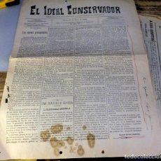 Coleccionismo de Revistas y Periódicos: UBEDA, JAEN, 1899, PERIODICO EL IDEAL CONSERVADOR Nº83. 23 DE JUNIO, 4 PAGINAS. Lote 125325103