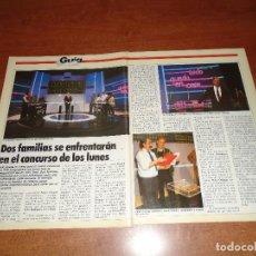 Coleccionismo de Revistas y Periódicos: RETAL PRENSA 1986: NUEVO CONCURSO DE TV. TODO QUEDA EN CASA, CON PEDRO OSINAGA.. Lote 125349591
