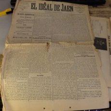 Coleccionismo de Revistas y Periódicos: JAEN, 1898, PERIODICO EL IDEAL DE JAEN Nº215. 19 DE OCTUBRE, 4 PAGINAS. Lote 125383371