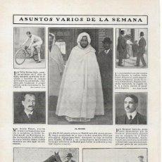 Coleccionismo de Revistas y Periódicos: 1908 HOJA REVISTA GUIPÚZCOA EIBAR CONCURSO DE GANADOS - AVILÉS CICLISTA FÉLIX SUÁREZ SOLÍS -CABRILLO. Lote 125434427