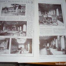 Coleccionismo de Revistas y Periódicos: RECORTE PRENSA : LA ACADEMIA DE CABALLERIA , DESTRUIDA POR UN INCENDIO. LA ESFERA, NVBRE 1915. Lote 125706943