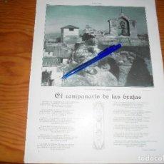 Coleccionismo de Revistas y Periódicos: RECORTE PRENSA : GRANADA : EL CAMPANARIO DE LAS BRUJAS, EL ALBAICIN. ESFERA, NVBRE 1915. Lote 125709927