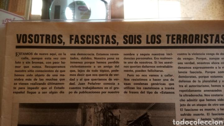 Coleccionismo de Revistas y Periódicos: REVISTA EL PAPUS. ATENTADO 1977. - Foto 2 - 125876863