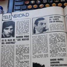 Coleccionismo de Revistas y Periódicos: CHICHO IBAÑEZ SERRADOR CHICHO RAMON PONS LINO VENTURA . Lote 125973123