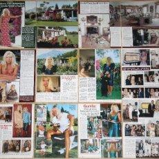 Coleccionismo de Revistas y Periódicos: GUNILLA VON BISMARK LOTE PRENSA CLIPPINGS 1980S/90S GLAMOUR PHOTOS ROYALTY MARBELLA. Lote 126100555