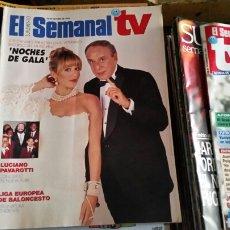 Coleccionismo de Revistas y Periódicos: LOTE 26 REVISTA EL SEMANAL TV 1993 1994 1996 1997 1998. Lote 126160348
