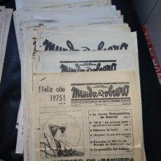 Coleccionismo de Revistas y Periódicos: 70 EJEMPLARES MUNDO OBRERO PERIÓDICO CLANDESTINO PCE TRANSICIÓN FRANQUISMO. Lote 126187307
