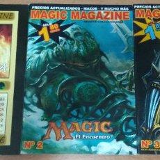 Collezionismo di Riviste e Giornali: LOTE 3 REVISTAS MAGIC MAGAZINE - NUMEROS 1, 2 Y 3 - MAGIC MTG. Lote 126190563