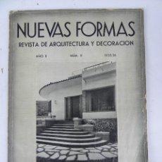 Coleccionismo de Revistas y Periódicos: REVISTAS NUEVAS FORMAS (REVISTA DE ARQUITECTURA Y DECORACION). AÑO II, NÚMERO 9, 1935/36. EDICIONES . Lote 126326283
