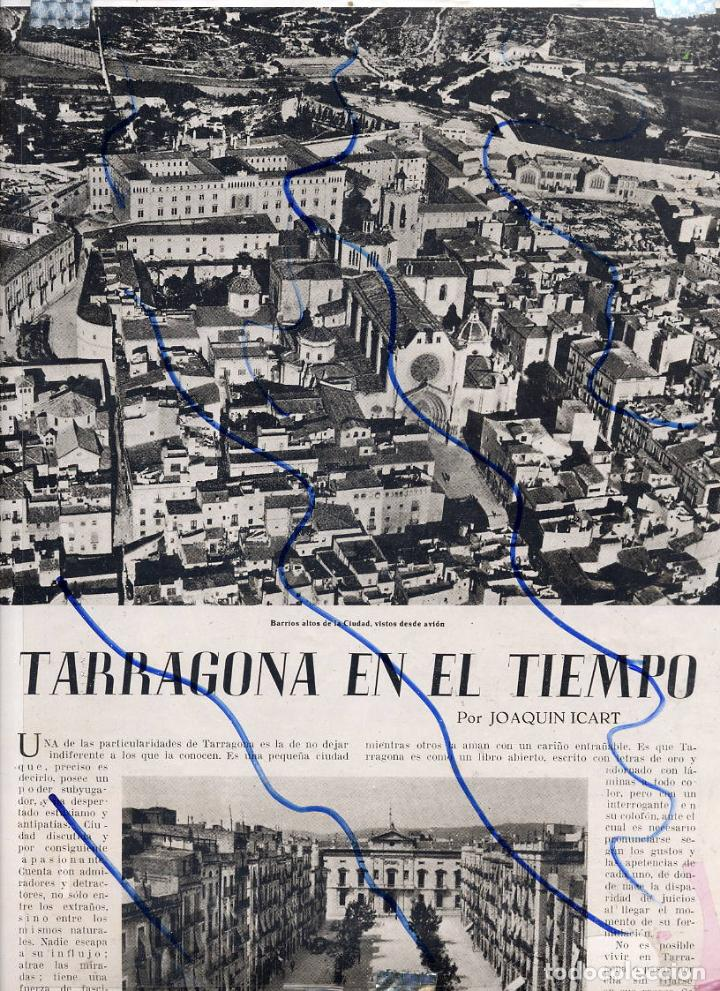 Tarragona 1955 Vistas Ciudad 2 Hojas Revista Comprar Revistas Y