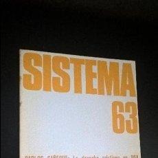 Coleccionismo de Revistas y Periódicos: REVISTA DE CIENCIAS SOCIALES. SISTEMA 63. NOVIEMBRE DE 1984. VV.AA. . Lote 126467019