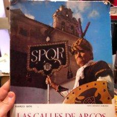 Coleccionismo de Revistas y Periódicos: REVUSTA LAS CALLES DE ARCOS - SEMANA SANTA ARCOS DE LA FRONTERA AÑO 1976. Lote 126498739