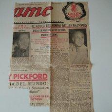Coleccionismo de Revistas y Periódicos: ENTREVISTA PRENSA ORIGINAL 1955. ESTEBAN ANGUITA, AUTOR HIMNO NACIONES UNIDAS DE ORIENTE. Lote 126555543