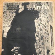 Coleccionismo de Revistas y Periódicos: ARRIBA (17-6-59) CACERES DALI PICASSO GRANADA FINALISTA COPA GENERALISIMO BAHAMONTES SANTOS PELE. Lote 126596459