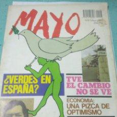 Coleccionismo de Revistas y Periódicos: REVISTA MAYO N 8 MAYO 1983. VERDES EN ESPAÑA?.JULIO CORTAZAR,AISLAR A NORTEAMERICA. Lote 126600692