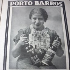 Coleccionismo de Revistas y Periódicos: PORTO BARROS. PUBLICIDAD AÑOS 30. EN FRANCÉS. . Lote 126756575