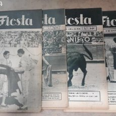 Coleccionismo de Revistas y Periódicos: LOTE 4 REVISTAS TOROS LA FIESTA 1949. Lote 126858975