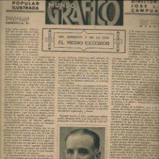 Coleccionismo de Revistas y Periódicos: MUNDO GRÁFICO. Nº 1051. 22 DICIEMBRE 1931.(B/58). Lote 269100893