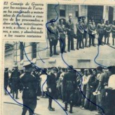 Coleccionismo de Revistas y Periódicos: TARRASA 1933 CONSEJO DE GUERRA HOJA REVISTA. Lote 127178567