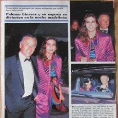 Coleccionismo de Revistas y Periódicos: RECORTE REVISTA SEMANA Nº 2653 1990 PALOMO LINARES, MARINA DANKO. Lote 127190263