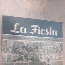 Coleccionismo de Revistas y Periódicos: REVISTA TOROS LA FIESTA 1949. Lote 127191880