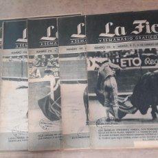 Coleccionismo de Revistas y Periódicos: LOTE 6 REVISTAS TOROS LA FIESTA 1948. Lote 127196215