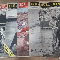 Coleccionismo de Revistas y Periódicos: LOTE 7 REVISTAS TOROS EL RUEDO 1964. Lote 127198984