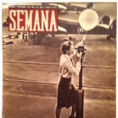Coleccionismo de Revistas y Periódicos: SEMANA, N.º 185. 7 DE SEPTIEMBRE DE 1943. Lote 127205215