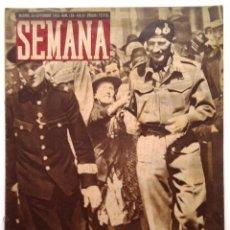 Coleccionismo de Revistas y Periódicos: SEMANA, N.º 188. 28 DE SEPTIEMBRE DE 1943. Lote 127205391