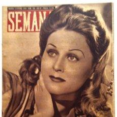 Coleccionismo de Revistas y Periódicos: SEMANA, N.º 189. 5 DE OCTUBRE DE 1943. Lote 127205523