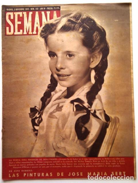 SEMANA, N.º 193. 2 DE NOVIEMBRE DE 1943 (Coleccionismo - Revistas y Periódicos Modernos (a partir de 1.940) - Otros)
