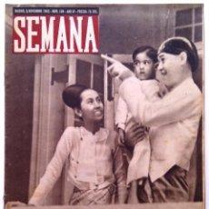 Coleccionismo de Revistas y Periódicos: SEMANA, N.º 194. 9 DE NOVIEMBRE DE 1943. Lote 127206175