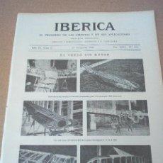 Coleccionismo de Revistas y Periódicos: IBERICA Nº452 1922 FOTOS INAGURACION TROZO LA PUDA-MONISTROL . Lote 127255219
