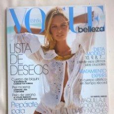 Coleccionismo de Revistas y Periódicos: REVISTA VOGUE - ESPECIAL BELLEZA Nº20 - AÑO 2005. Lote 127264423