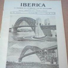 Coleccionismo de Revistas y Periódicos: IBERICA Nº995 1933 PUENTES GIGANTESCOS. Lote 127500235