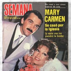 Coleccionismo de Revistas y Periódicos: SEMANA - 1980 - MARY CARMEN, PEDRO MARÍN, MIGUEL BOSÉ, PALOMA SAN BASILIO, MARISOL, ROCÍO JURADO. Lote 56866947