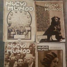 Coleccionismo de Revistas y Periódicos: LOTE PERIÓDICO REVISTA NUEVO MUNDO REPÚBLICA 1931. Lote 127615158
