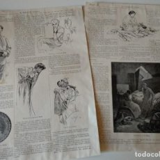 Coleccionismo de Revistas y Periódicos: REPORTAJE REVISTA ORIGINAL MUY ANTIGUO. ALFONSO MUCHA. Lote 127635679