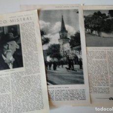 Coleccionismo de Revistas y Periódicos: REPORTAJE REVISTA ORIGINAL ANTIGUO. FEDERICO MISTRAL. Lote 127637331