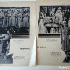 Coleccionismo de Revistas y Periódicos: 2 HOJAS REVISTA ORIGINALES ANTIGUAS. CERTAMENES DE BELLEZA MISS COSTA RICA, BOMBAY, CHILE. Lote 127637411