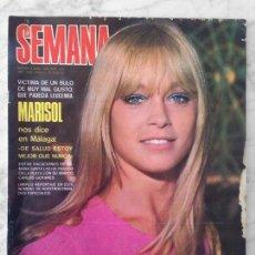 Coleccionismo de Revistas y Periódicos: SEMANA - 1970 - MARISOL, DANA, RITA PAVONE, EUROFESTIVAL, RAPHAEL, ROSALÍA, SHEILA, JACKIE ONASSIS. Lote 76466903