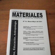 Coleccionismo de Revistas y Periódicos: REVISTA CUADERNOS DE MATERIALES. NÚMERO 14.. Lote 127743251