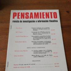 Coleccionismo de Revistas y Periódicos: REVISTA PENSAMIENTO. NÚMERO 54. Lote 127743375